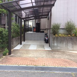 駐車場の拡張工事